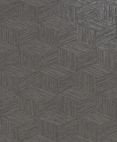 Bakau Grasscloth Metallic Wallpaper Charcoal