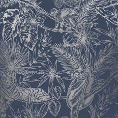 Sumatran Wallpaper Navy/Silver