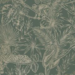 Sumatran Wallpaper Green/Gold
