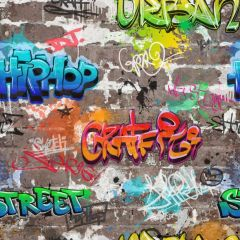 Graffiti-Style Urban Wallpaper Multi