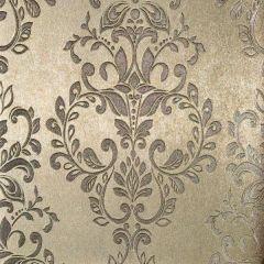 Serena Metallic Damask Wallpaper Gold