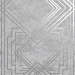 Delano Geometric Wallpaper Grey/Silver