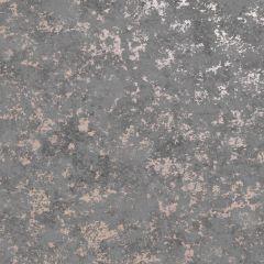 Obsidian Industrial Wallpaper Grey/Rose Gold