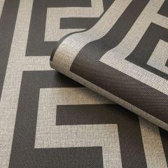 Giorgio Greek Key Wallpaper Gunmetal/Silver