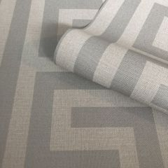 Giorgio Greek Key Wallpaper Soft Silver