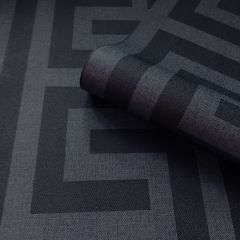 Giorgio Greek Key Wallpaper Dark Blue
