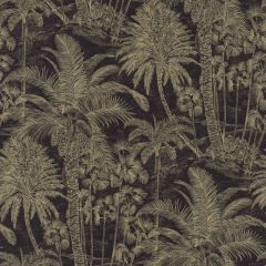 Savannah Tropical Monkey Wallpaper Black