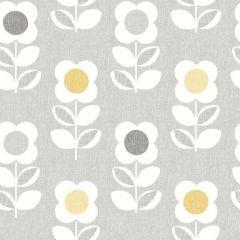 Retro Flower Linen Wallpaper