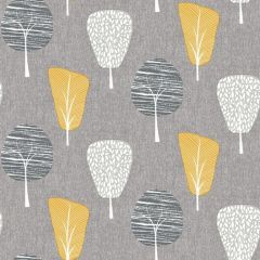 Retro Tree Wallpaper Ochre