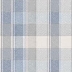 Country Check Wallpaper Denim