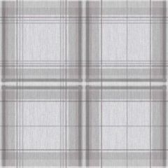 Woven Check Wallpaper Grey & White