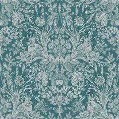 Harlen Woodland Wallpaper Dark Green