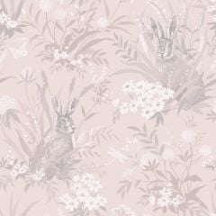 Countryside Wildlife Garden Wallpaper Pink