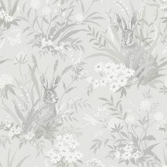 Countryside Wildlife Garden Wallpaper Grey