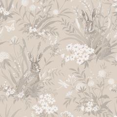 Countryside Wildlife Garden Wallpaper Taupe