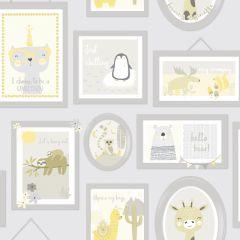 Animal Frames Children's Wallpaper