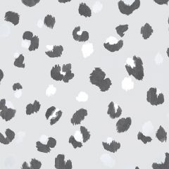 Amur Leopard Wallpaper Grey
