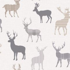 Country Stag Wallpaper Neutral