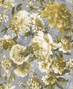 Secret Garden Wallpaper Yellow & Silver
