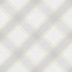 Ainsley Kaleidoscope Tartan Wallpaper Yellow and Grey