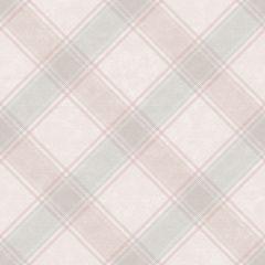 Ainsley Kaleidoscope Tartan Wallpaper Blush Pink