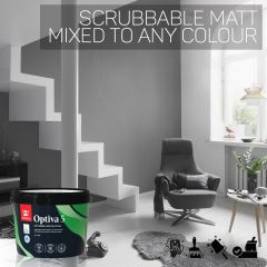 Tikkurila Optiva 5 Scrubbable Matt for Walls & Ceilings - Colour Match