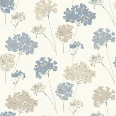 Anya Floral Wallpaper Blue