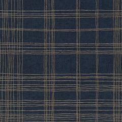 Ava Metropolitan Stories Stripe Wallpaper Navy
