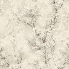Glitter Tree Blossom Wallpaper Beige