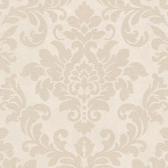Diamonds Glitter Damask Wallpaper Cream/Beige