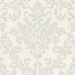 Diamonds Glitter Damask Wallpaper White/Silver
