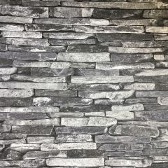 Slate Faux Brick Wallpaper Grey