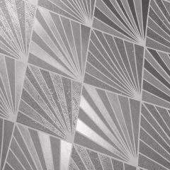 Great Gatsby Aster Geo Metallic Glitter Wallpaper Silver