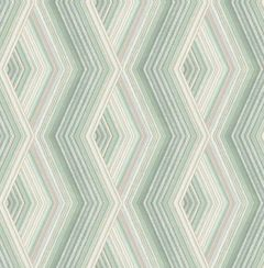 Aura Geo Wallpaper Green