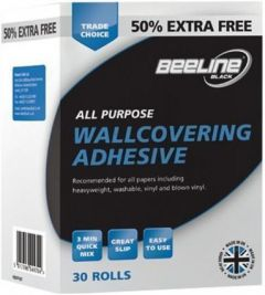 Beeline All Purpose Wallpaper Adhesive Value Multi 30 Roll Pack