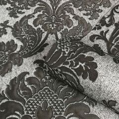 San Remo Damask Wallpaper Charcoal
