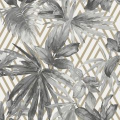 Forage Tropical Wallpaper Silver