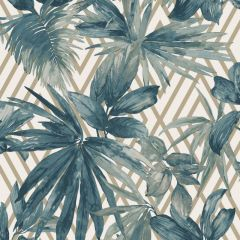 Forage Tropical Wallpaper Teal