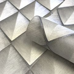 Callisto Luxury Grey & Silver Wallpaper