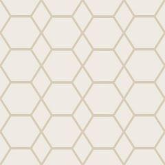 Casca Geometric Hex Metallic Wallpaper Gold