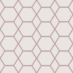 Casca Geometric Hex Metallic Wallpaper Rose Gold