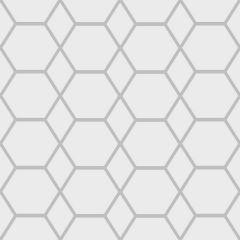 Casca Geometric Hex Metallic Wallpaper Silver