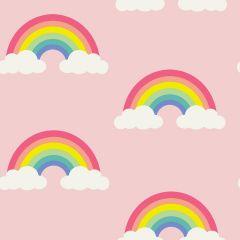 Children's Rainbow Wallpaper Pink