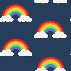 Children's Rainbow Wallpaper Blue