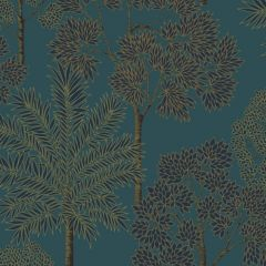 City of Palms Wallpaper Teal