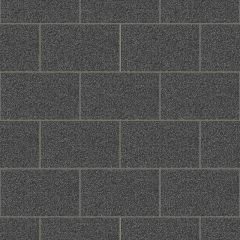 London Tile Glitter Wallpaper Black