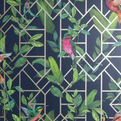 Deco Tropical Birds Wallpaper