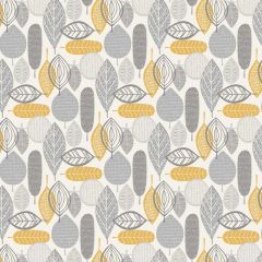 Malmo Retro Leaf Wallpaper Ochre