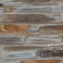 Exposure Stone Wall Wallpaper Brown/Blue