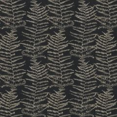 Erismann Central Park Leaf Wallpaper Charcoal/Gold